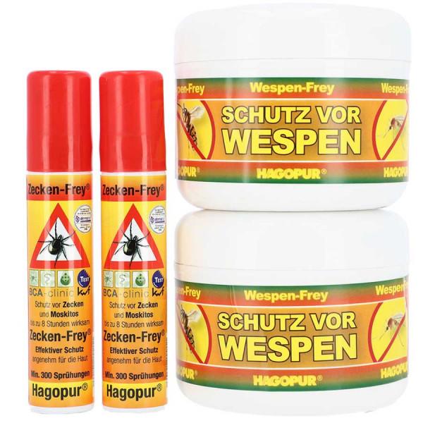 Hagopur Zecken- und Wespen-Frey Angebots-Set 2x2